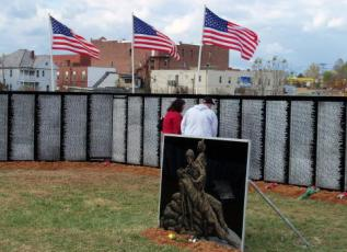 Tears Flow - Traveling Vietnam Memorial Wall Comes WV