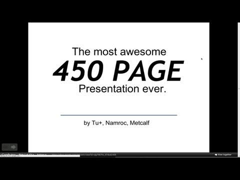 Awesome 450 slide presentation in under 2 minutes! Google Slam Demo