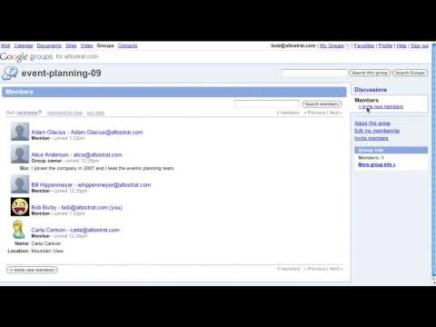Video: Google Groups Now in Google Apps