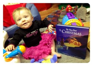 Lily's first Christmas. She is 8 months old today