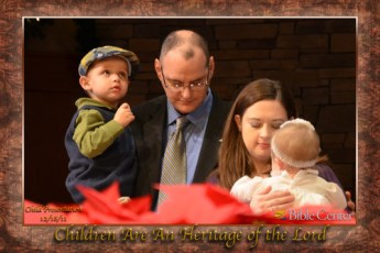 Photo of Lily's Dedication at Bible Center Church