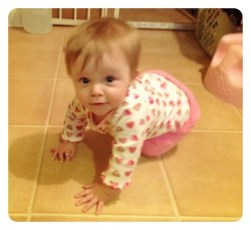 Lily crawling for the first time!