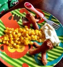 Kristen made Daniel 'Octopus' for dinner. He loves it!!
