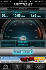 Max cable speed at home now is just 10Mbps