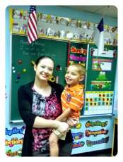 Daniel's first day at BibleCenter preschool