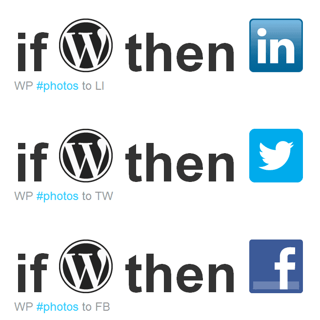 How to use IFTTT to Share WordPress Photos to Facebook, LinkedIn and Twitter
