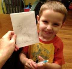 Daniel drew a Parrot