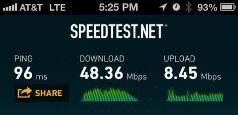 48 Mbps LTE wireless speed in DC!