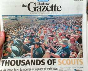 Front pages today. Boy Scouts in WV