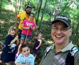 Adventure walk with the kids on our backyard trails