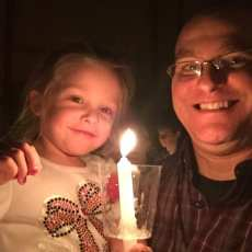 Lily's first candlelight service