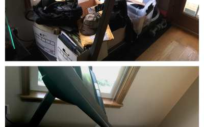 My treadmill before and after…