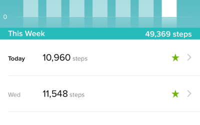 Yay! 10k+ steps past three days