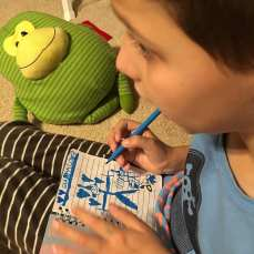 Daniel writing a note to Santa...