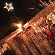 The manger...
