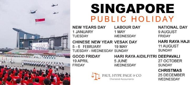 SG Public Holiday 2019