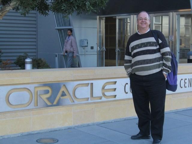 Christian Haack in San Francisco Oracle HQ