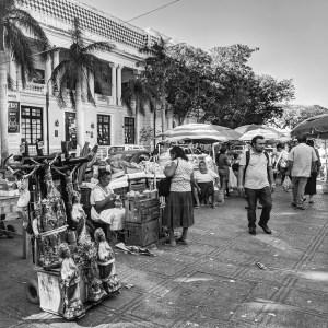 Sunday at the Market-Walking in Merida-MX by Birgit Pauli-Haack