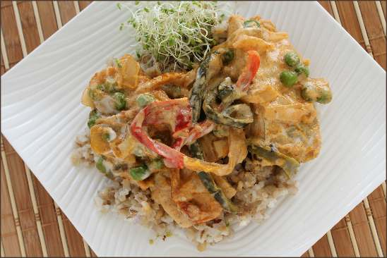 thai curry soy seaweed fish
