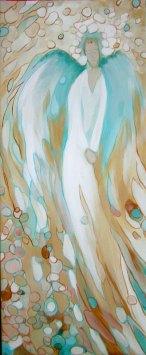 Anioł lewy - akryl na płótnie 73x30cm