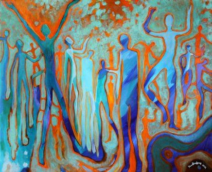 Oczopląs - akryl na płótnie 50x70cm, obraz sprzedany