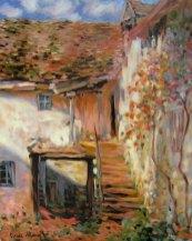 Claude Monet, Schody (olej na płótnie)