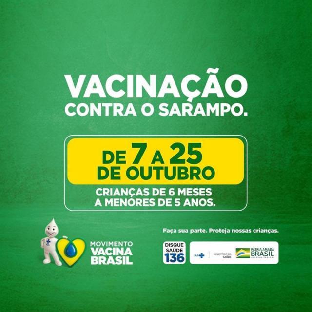 Resultado de imagem para Campanha Nacional de Vacinação contra o Sarampo começa segunda-feira