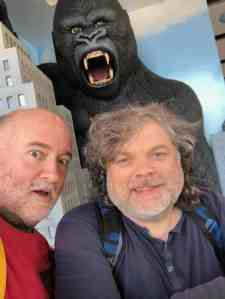 Tim and Paul at Madame Tussauds in Los Angeles.