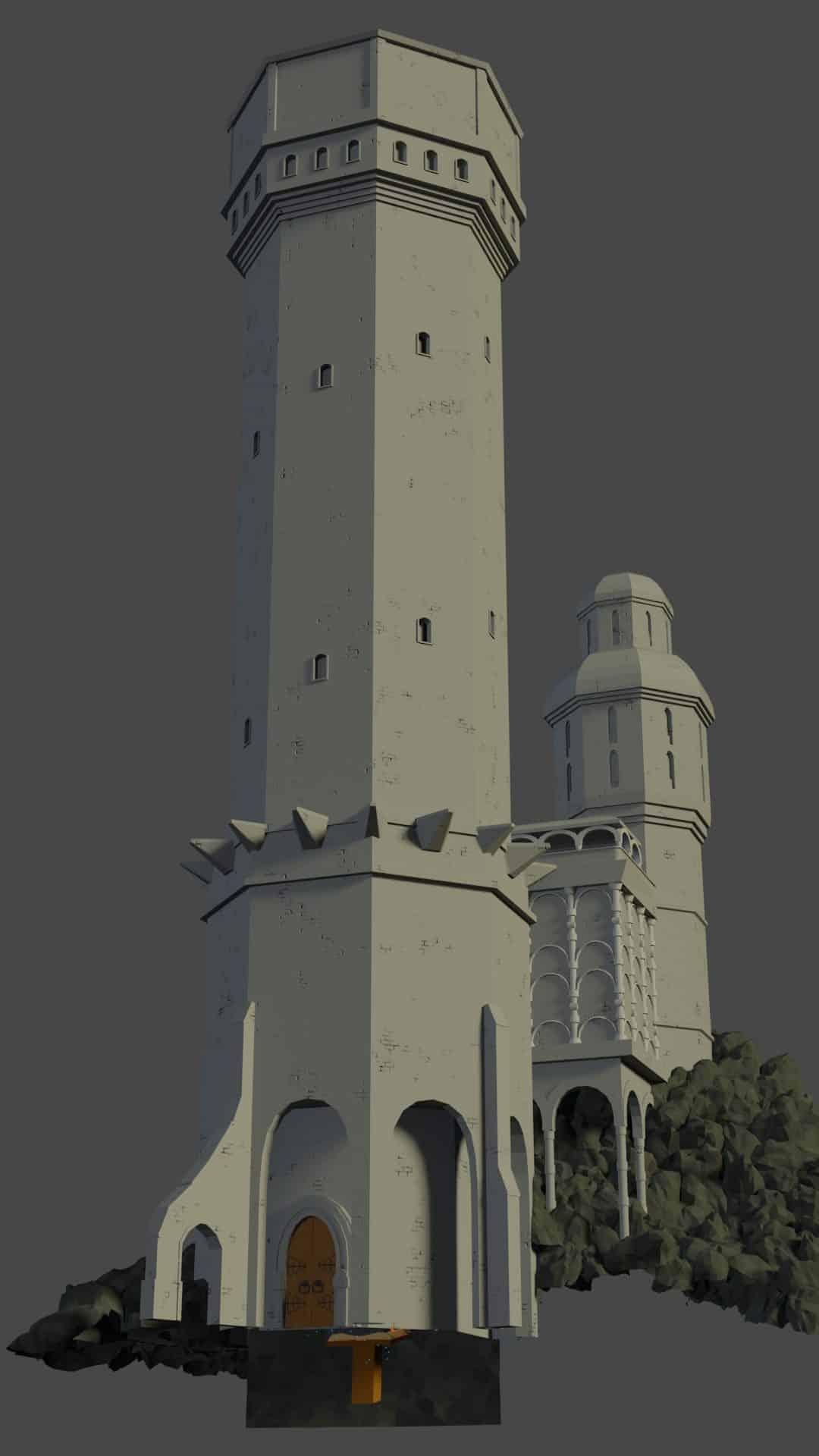 Etape 1 de l'image de Tour médiévale