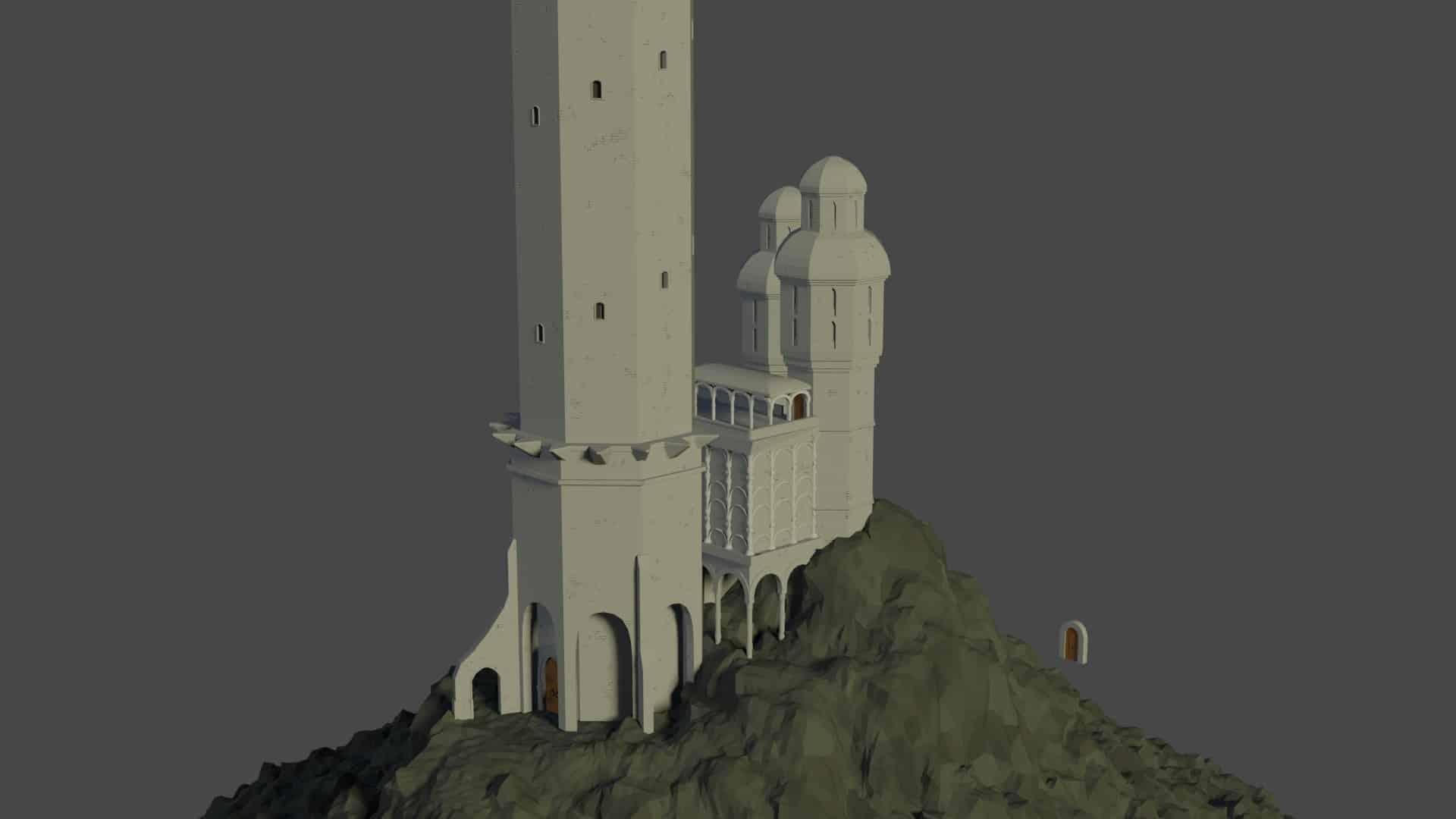 Etape 4 de l'image de Tour médiévale