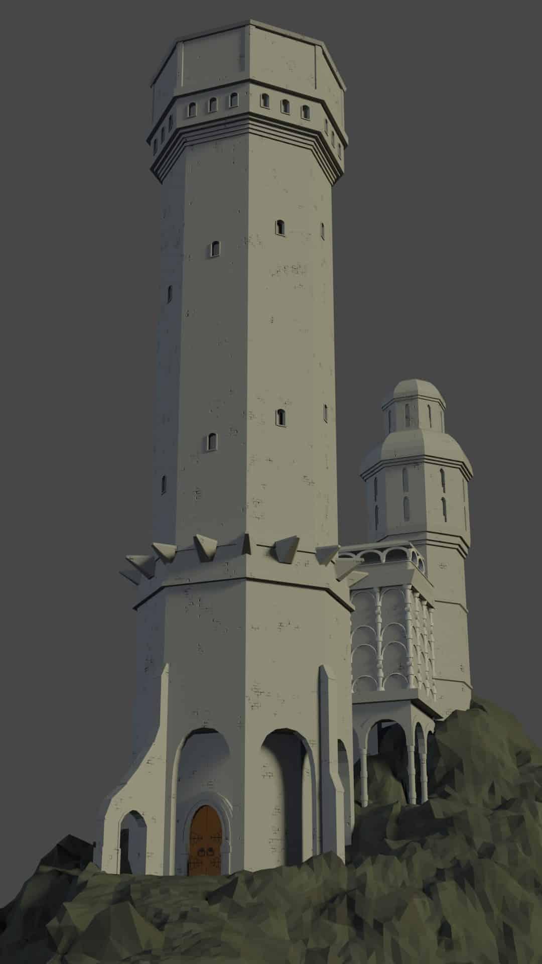 Etape 5 de l'image de Tour médiévale