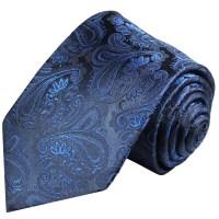 Blue paisley necktie