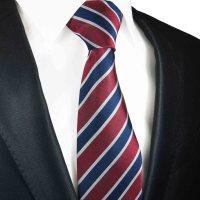 Blue red mens tie striped | silk necktie 648 - Paul Malone ...