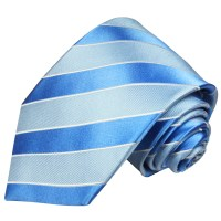Blue mens tie striped | silk necktie 763 - Paul Malone Shop
