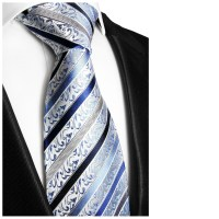 Blue striped necktie | silk mens tie 718 - Paul Malone Shop