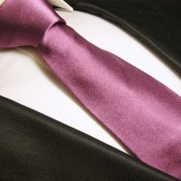 Paul Malone Shop - Dark Pink Mauve Necktie 100% Silk Mens ...