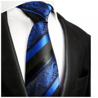 Blue striped necktie | silk mens tie 496 - Paul Malone Shop