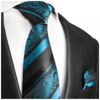 Blue mens tie baroque striped | silk necktie 2036 - Paul ...