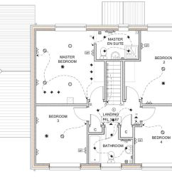 complete electrical wiring of a new build 4 bedroom house in electrical wiring residential 17th edition the plans [ 1200 x 675 Pixel ]