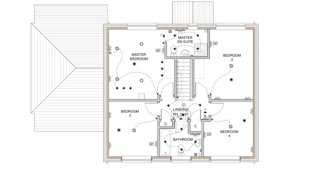 medium resolution of complete electrical wiring of a new build 4 bedroom house in electrical wiring residential 17th edition the plans
