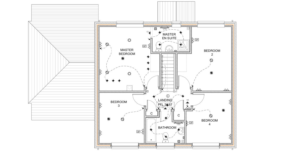 hight resolution of complete electrical wiring of a new build 4 bedroom house in electrical wiring residential 17th edition the plans