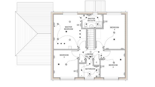 small resolution of complete electrical wiring of a new build 4 bedroom house in electrical wiring residential 17th edition the plans