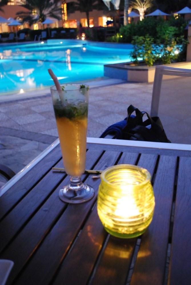 A non-alcoholic mojito in the Shangri La