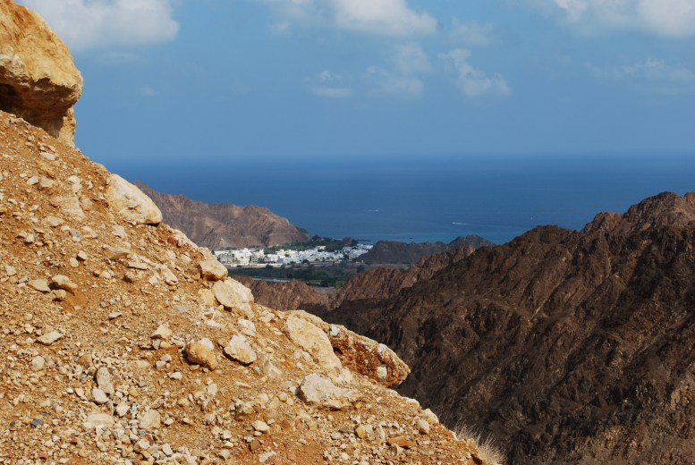 In the mountains overlooking Muscat