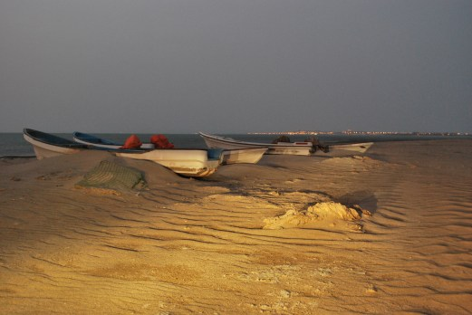 The beach by night on Masirah