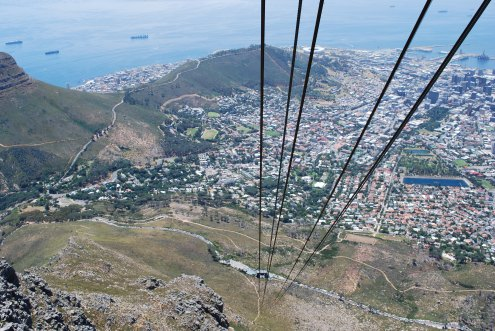 View from the Table Mountain cable car