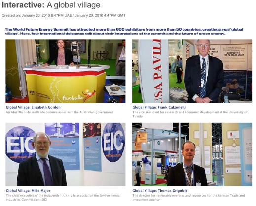 World Future Energy Summit, Global Village