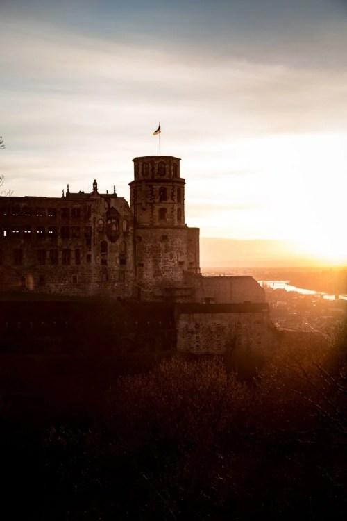 Heidelberg castle sunset