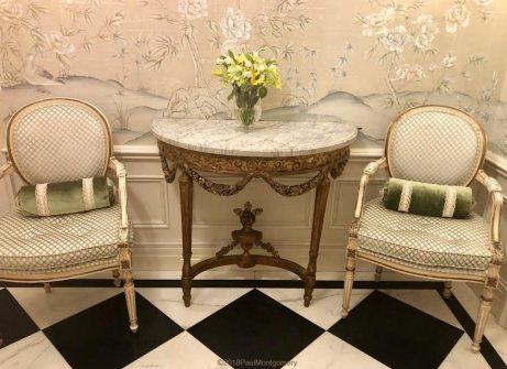 "Custom ""South Hampton"" chinoiserie.  Interior design by Tina Yaraghi."