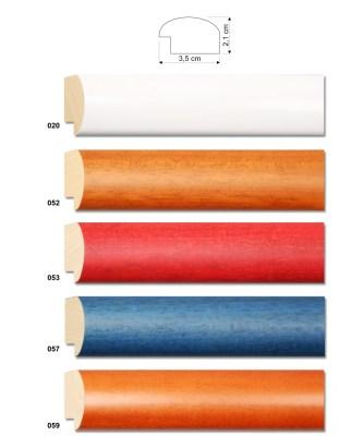 molduras redondas de várias cores